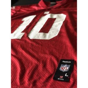 Manning NY Giants Reebok Red Sz Youth LG